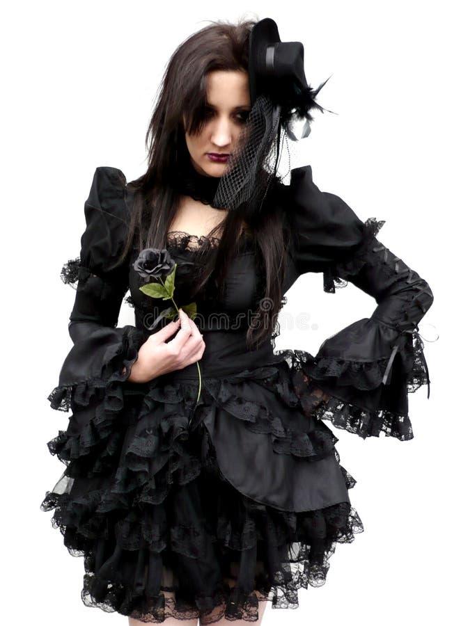 Gotische Schönheit untröstlich stockbild