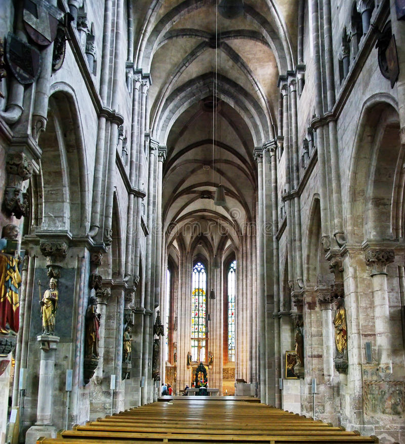 Gotische stijlkathedraal royalty-vrije stock foto