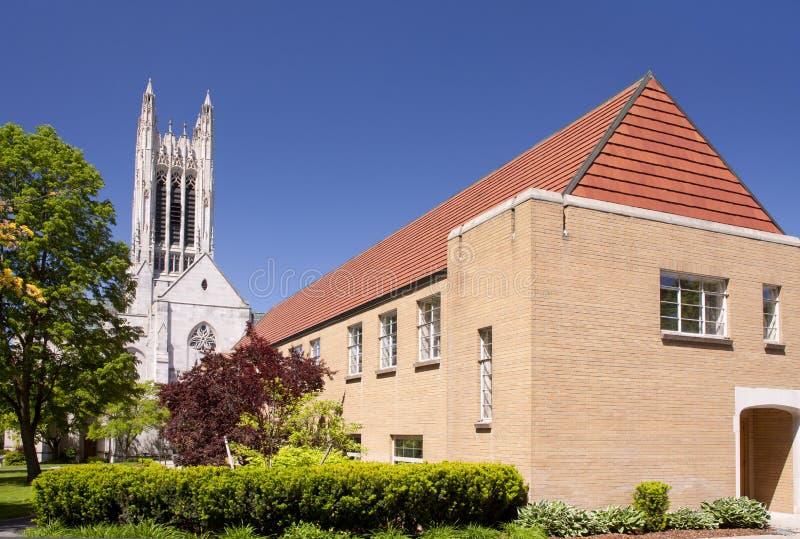 Gotische stijlkerk stock fotografie