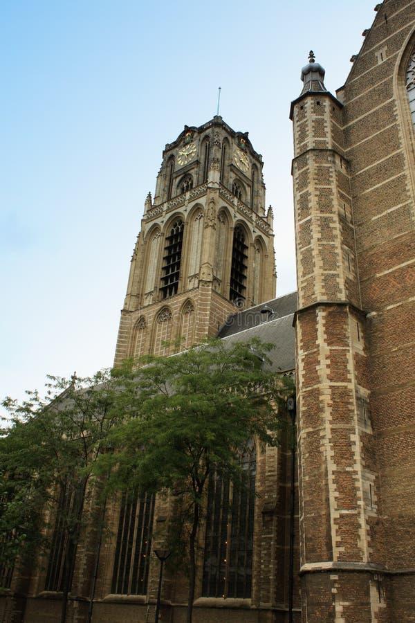 Gotische stijlkerk van St Lawrence (het Nederlands: Grote van St Laurenske stock foto's