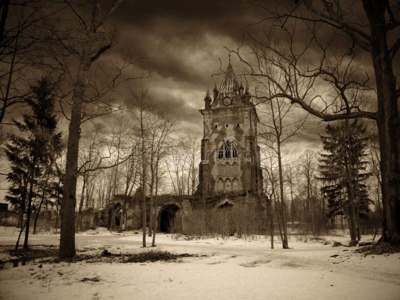 Gotische toren stock afbeelding