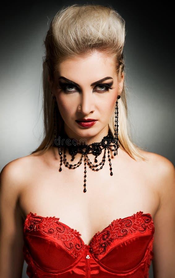 Gotische vrouw stock afbeelding