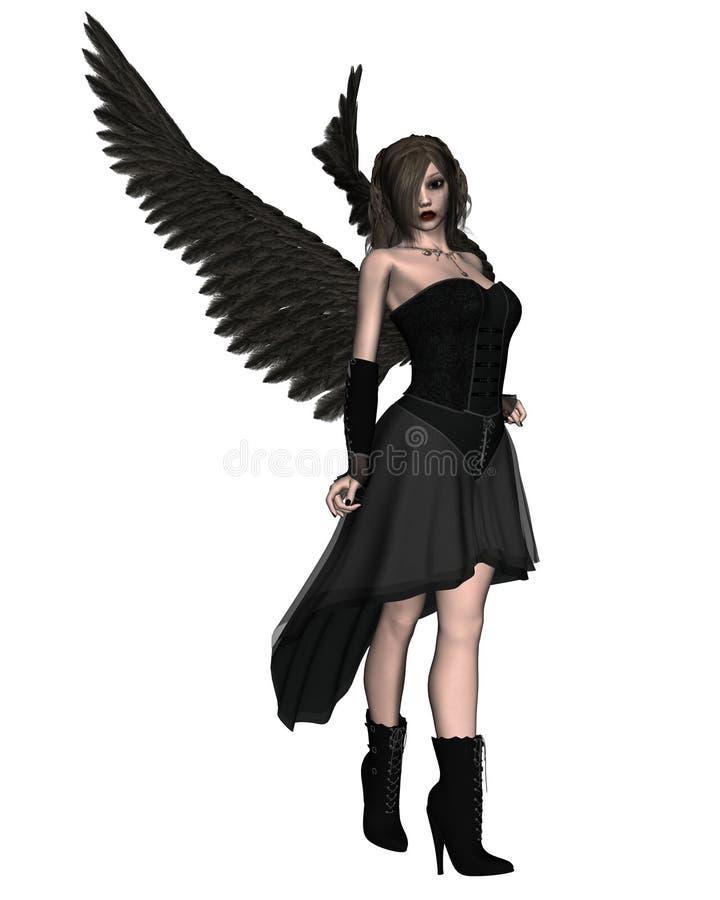 Gotischer Engel - 1 stock abbildung