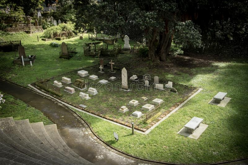 Gotischer Friedhof, Wellington New Zealand lizenzfreie stockfotografie