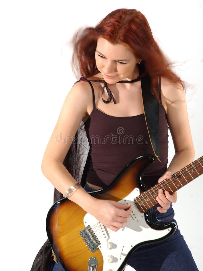 Gotischer Gitarrist 4 stockbilder