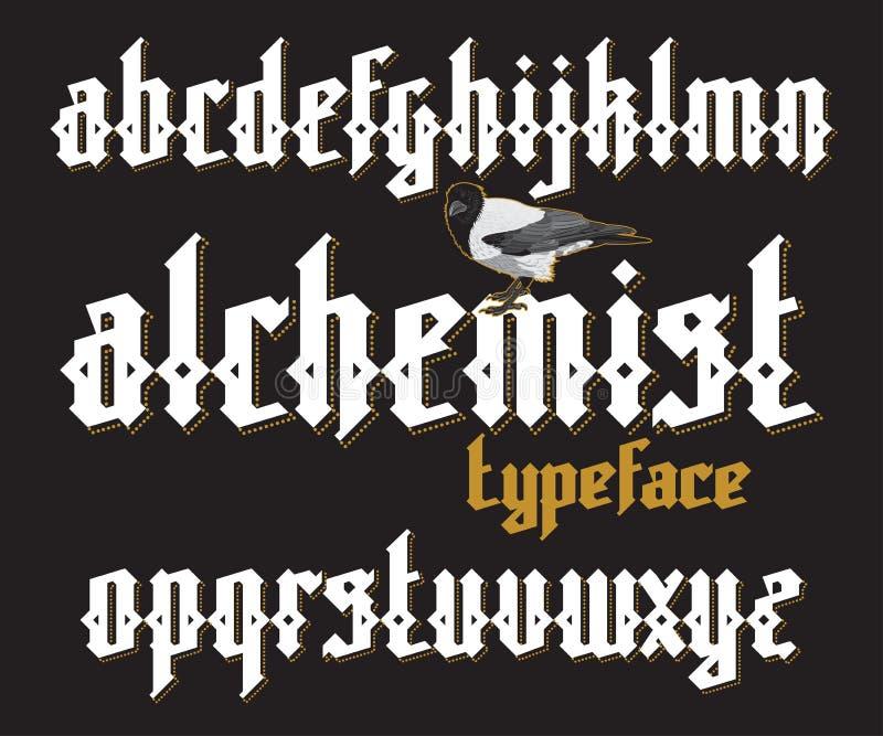 Gotischer Guss des Alchemisten lizenzfreie abbildung
