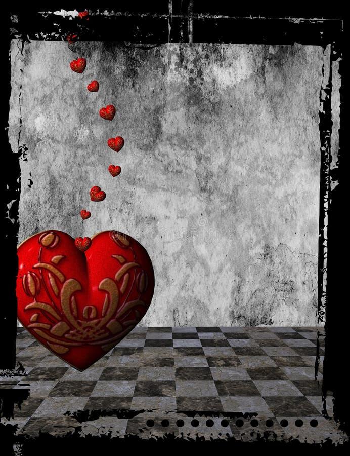 Gotischer Herzhintergrund lizenzfreie abbildung