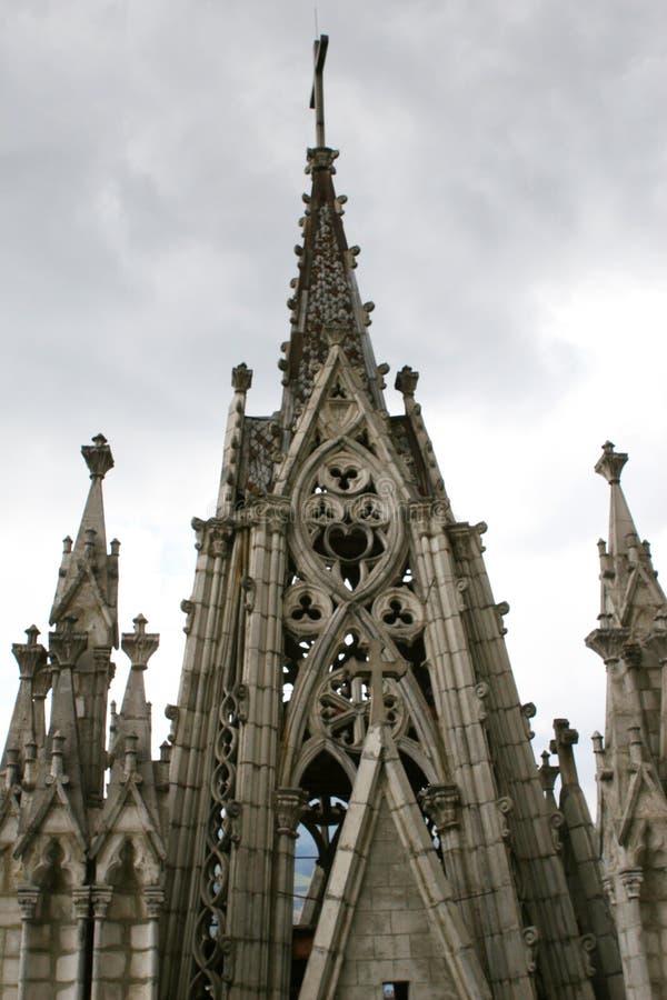 Gotischer Kontrollturm stockbilder