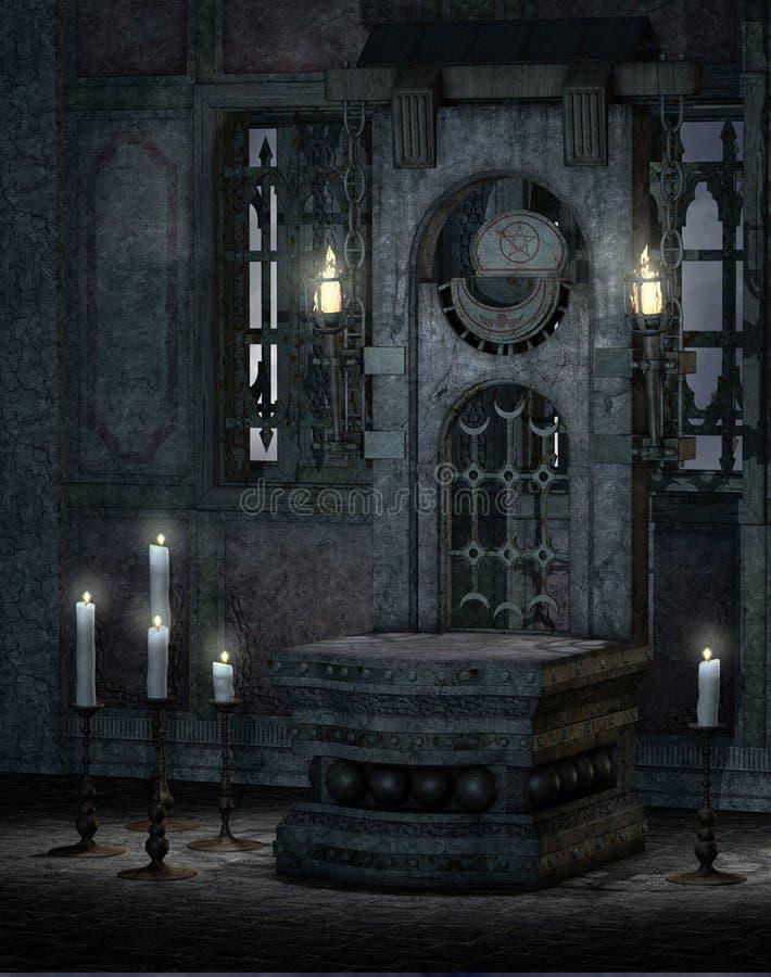 Gotischer Tempel 1 stock abbildung