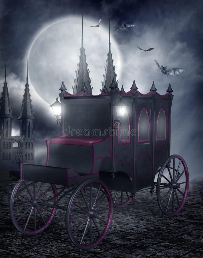 Gotischer Wagen vektor abbildung