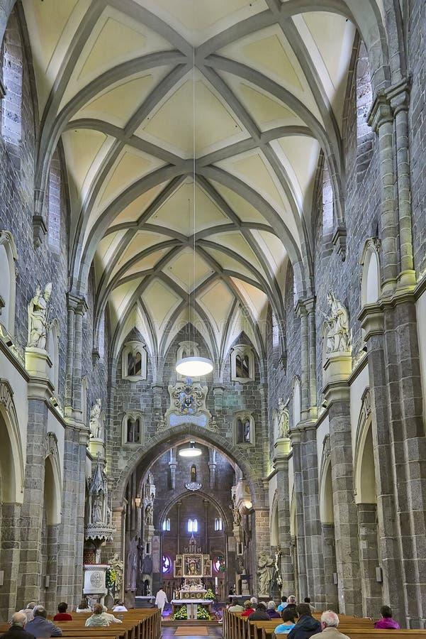 Gotisches Basilika Heiliges Procopius in Trebic, UNESCO-Standort stockfotos