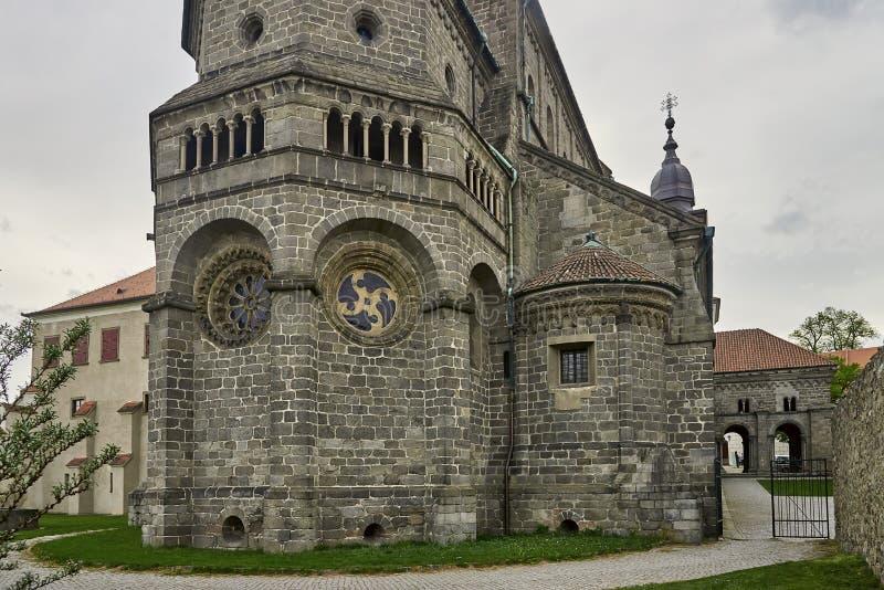 Gotisches Basilika Heiliges Procopius in Trebic, UNESCO-Standort lizenzfreie stockfotografie