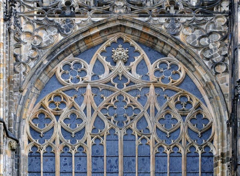 Gotisches Detail des Fensters lizenzfreie stockfotografie
