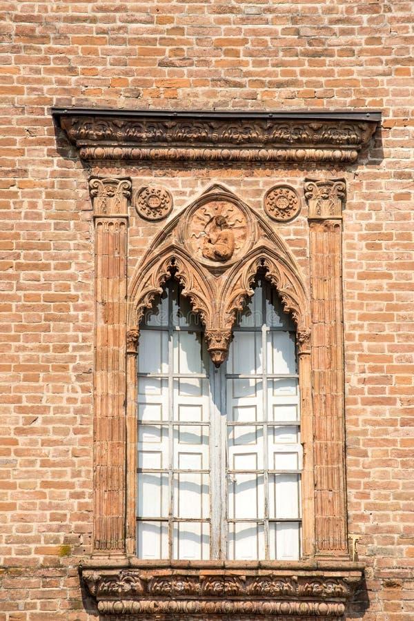 Gotisches Fenster stockfoto