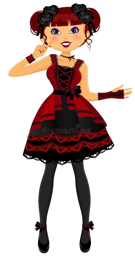 Gotisches lolita lizenzfreie abbildung