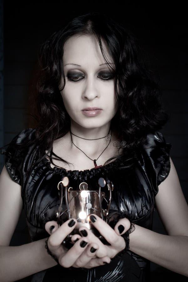Gotisches Mädchen lizenzfreie stockbilder