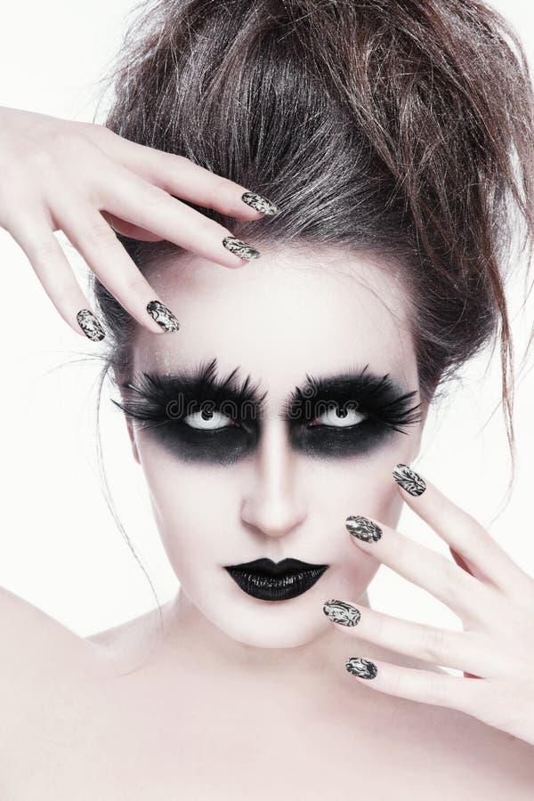 Gotisches Make-up stockfotos