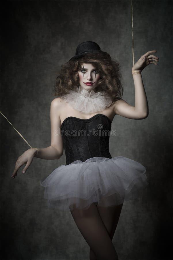 Gotisches Marionettenmädchen stockfotografie