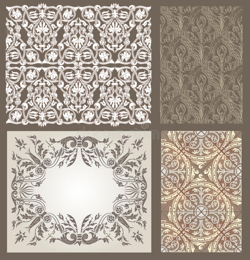Gotisches Muster vektor abbildung