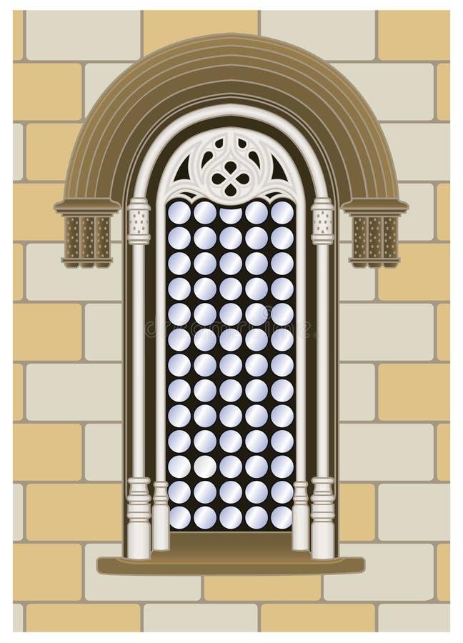Gotisches-reanaissance Fenster stock abbildung