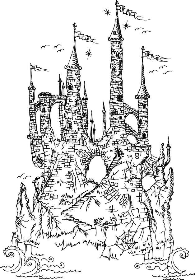 Gotisches Schloss von Märchen III lizenzfreie abbildung