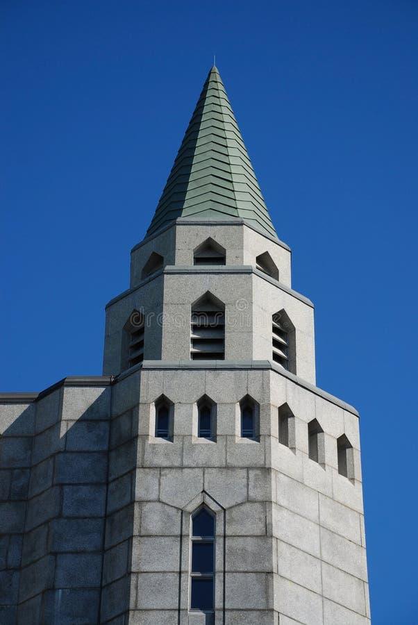 Gotisches Steingebäude stockbild