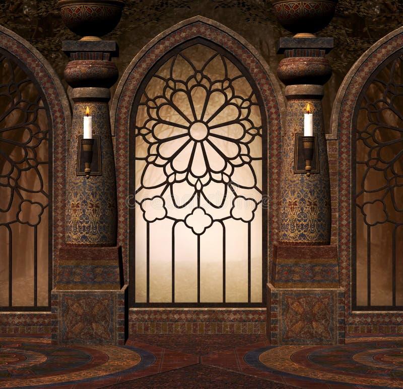 Gotisches Tor der Fantasie lizenzfreie abbildung