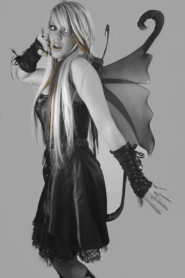gotisk ängel arkivfoto