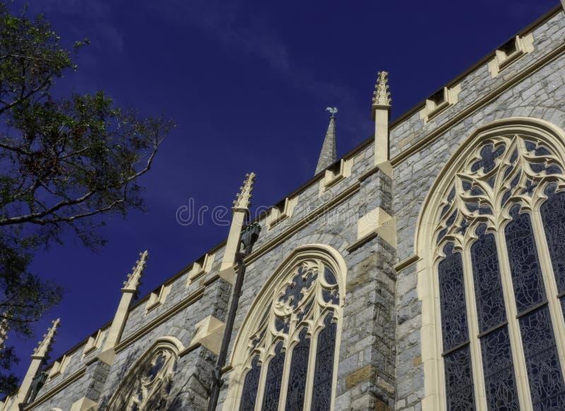 Gotisk arkitektur av den historiska Wilmington kyrkan fotografering för bildbyråer