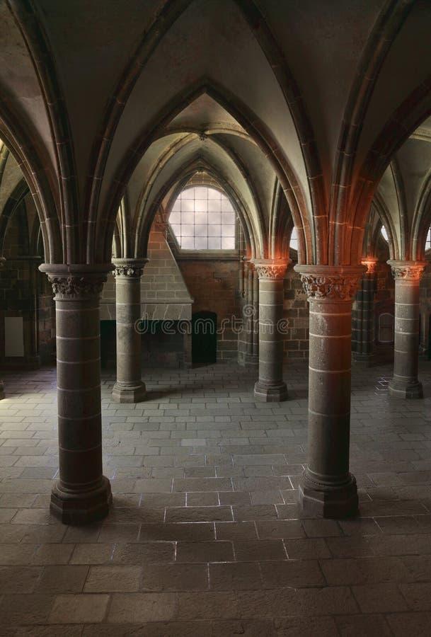 Gotisk Arkitektur Inomhus Royaltyfri Fotografi