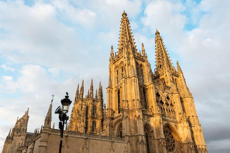 Gotisk domkyrka av Burgos, Spanien royaltyfri bild