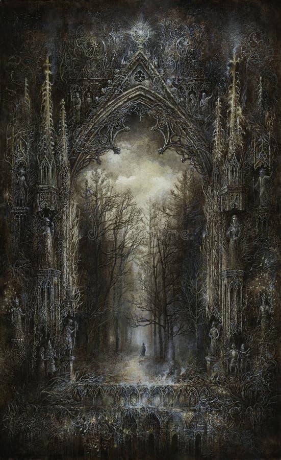 Gotisk fantasi stock illustrationer