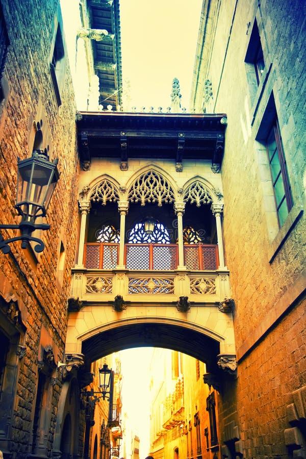 Gotisk fjärdedel i Barcelona royaltyfri bild