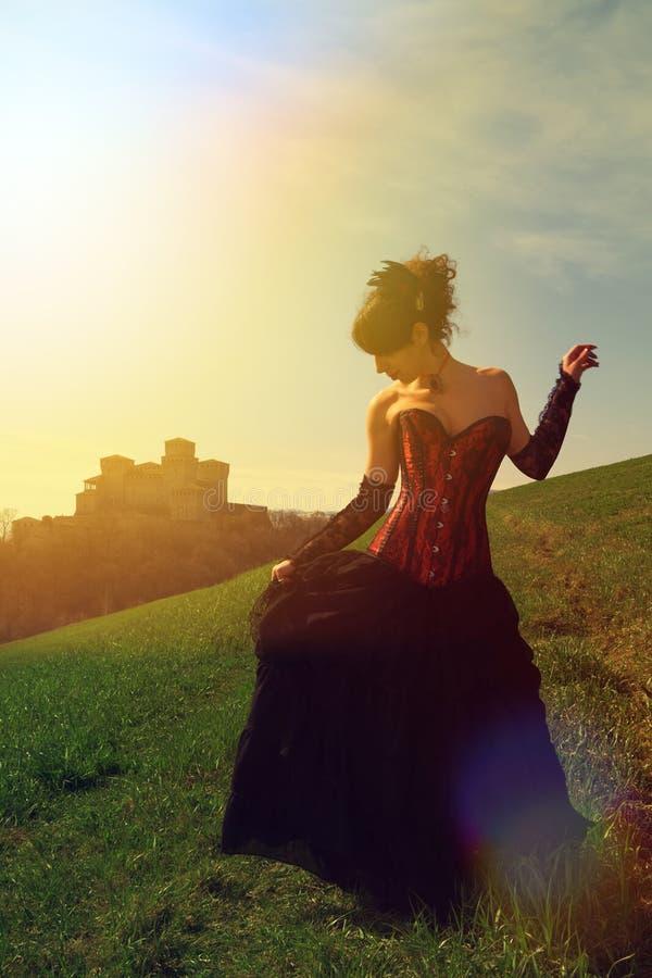 gotisk flicka royaltyfri foto