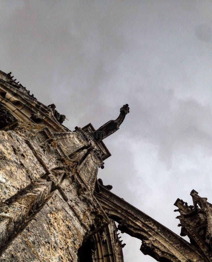 gotisk gargoyle royaltyfri foto