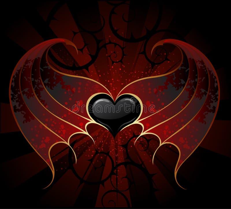 gotisk hjärtavampyr vektor illustrationer