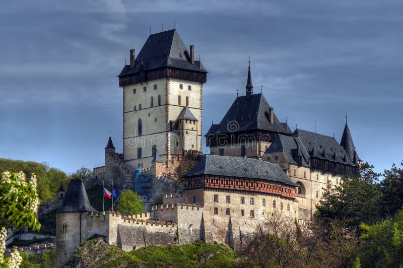gotisk karlstejn för slott royaltyfri fotografi