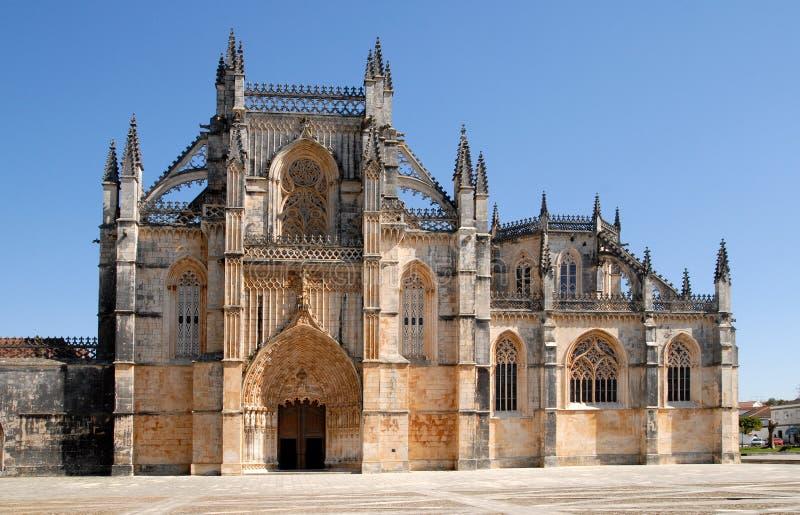 gotisk kloster portugal för batalha royaltyfria foton