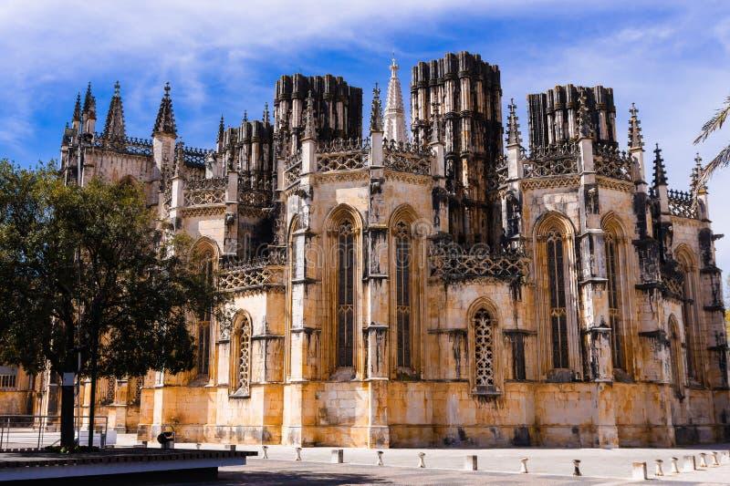 gotisk kloster portugal f?r batalha Gotisk kloster av Santa Maria da Vitoria de Batalha arkivbilder