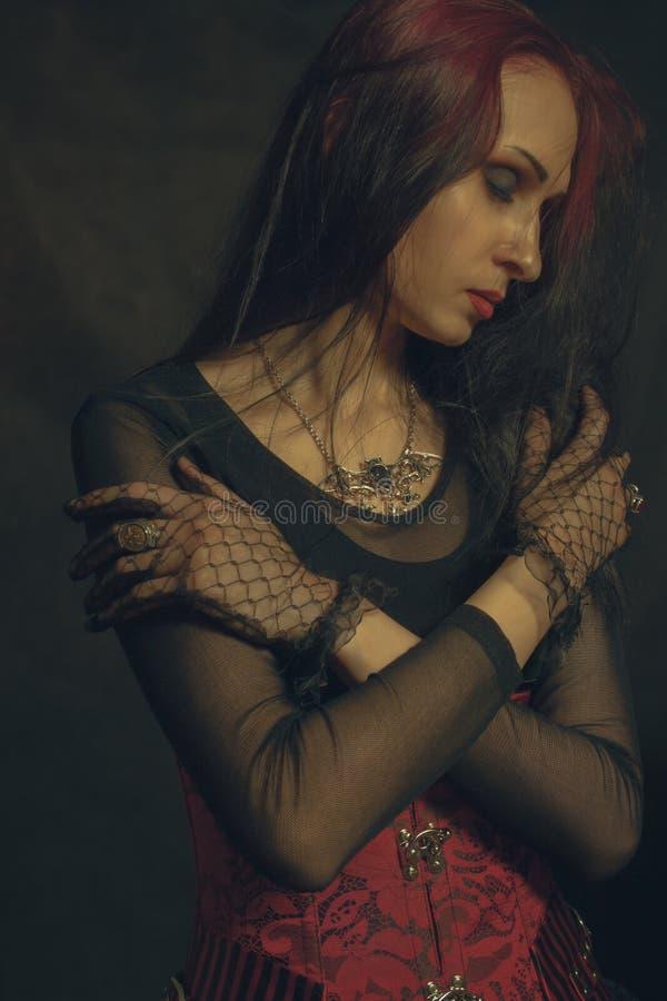 Gotisk Lady arkivbilder