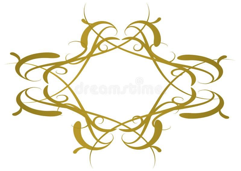 gotisk logo royaltyfri illustrationer