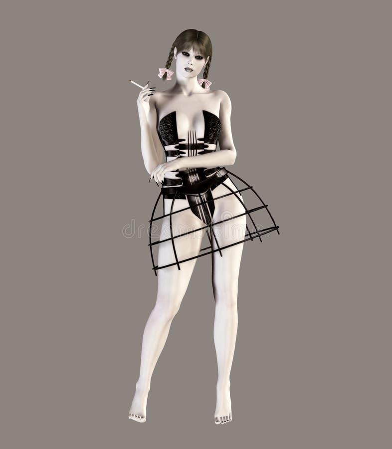 gotisk lolita stock illustrationer