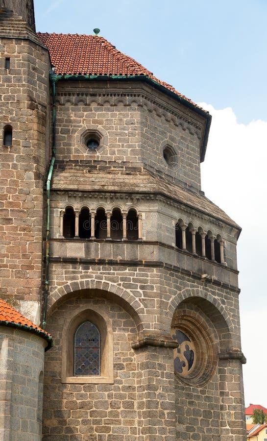 Gotisk och renässansbasilikahelgon Procopius i den Trebic kloster, UNESCOplats, Tjeckien, Moravia royaltyfria bilder