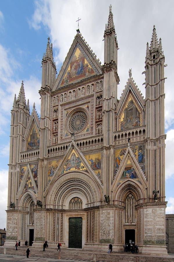 gotisk orvieto för domkyrka arkivbilder