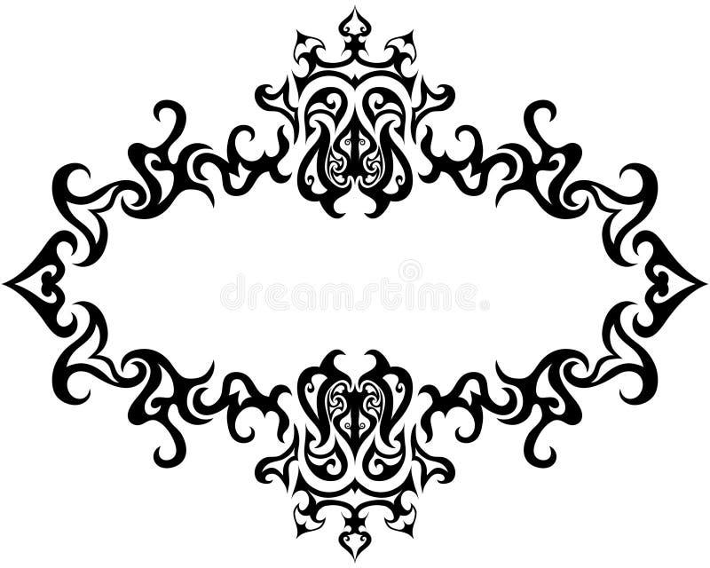 gotisk ram vektor illustrationer