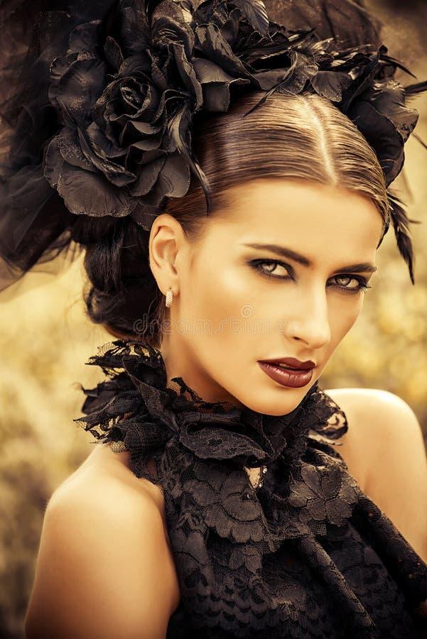 Gotisk skönhet royaltyfria bilder