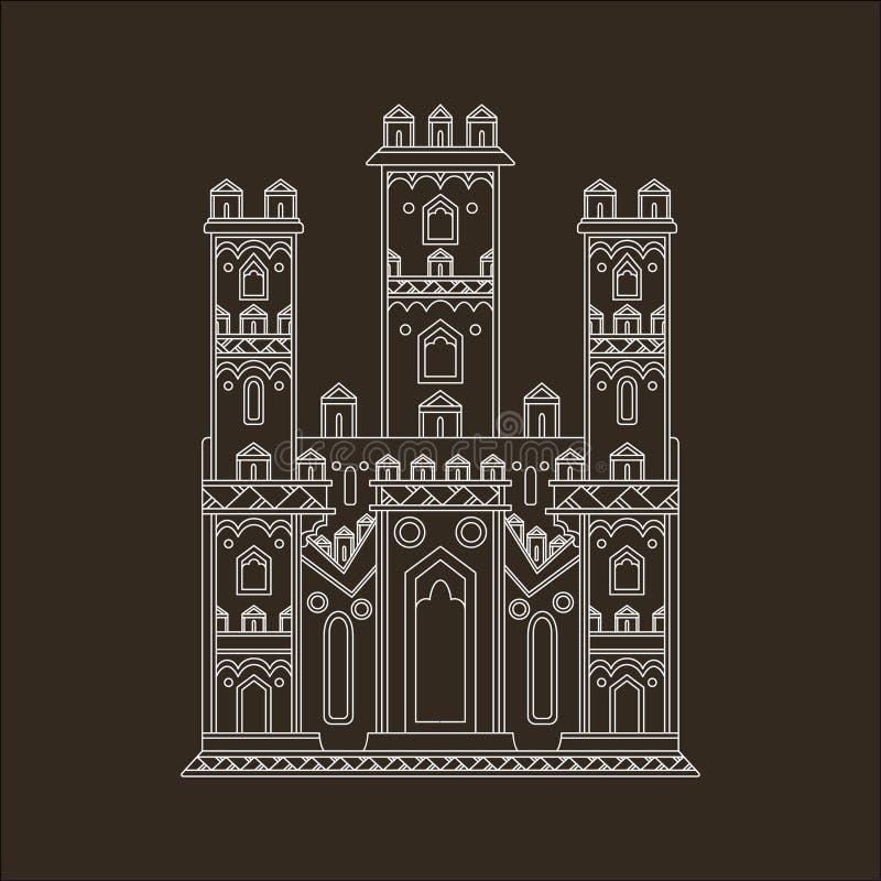 Download Gotisk slottillustration vektor illustrationer. Illustration av fantasi - 37347025