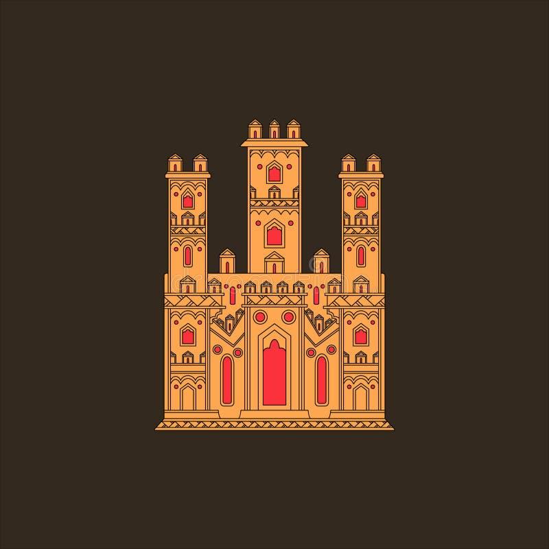 Download Gotisk slottillustration stock illustrationer. Illustration av företags - 37348966