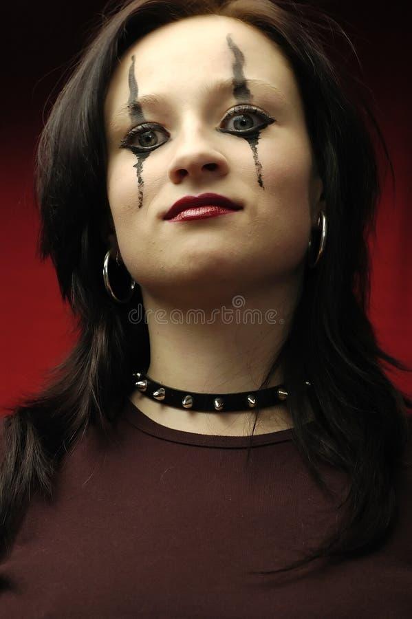 gotisk ståendekvinna arkivfoton