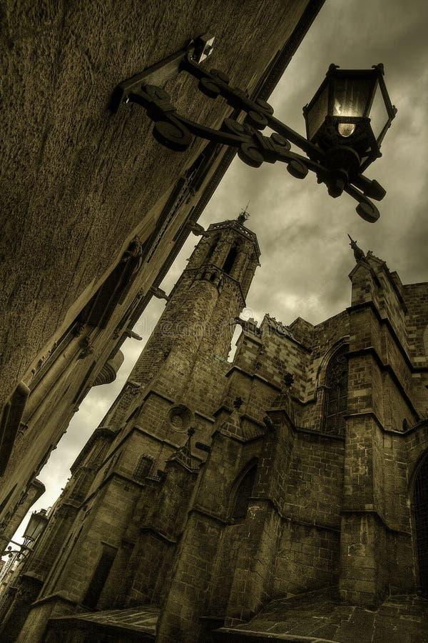 gotiska barcelona royaltyfri fotografi